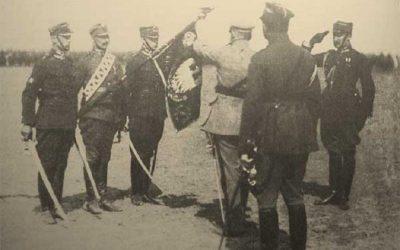 Podporucznik Czesław Buszkiewicz – oficer 15. Pułku Ułanów Poznańskich – kawaler Virtuti Militari.