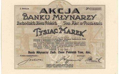 Meandry finansów niepodległej – Bank Młynarzy Zachodnich Ziem Polskich, Towarzystwo Akcyjne w Poznaniu